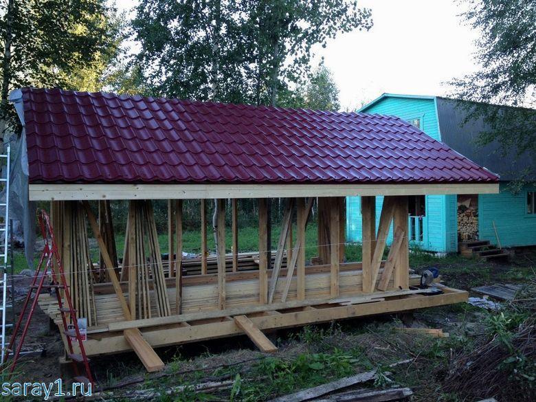 10 крыша сарая
