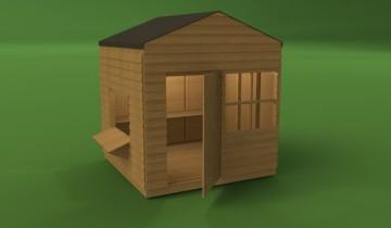 3D проект сарая