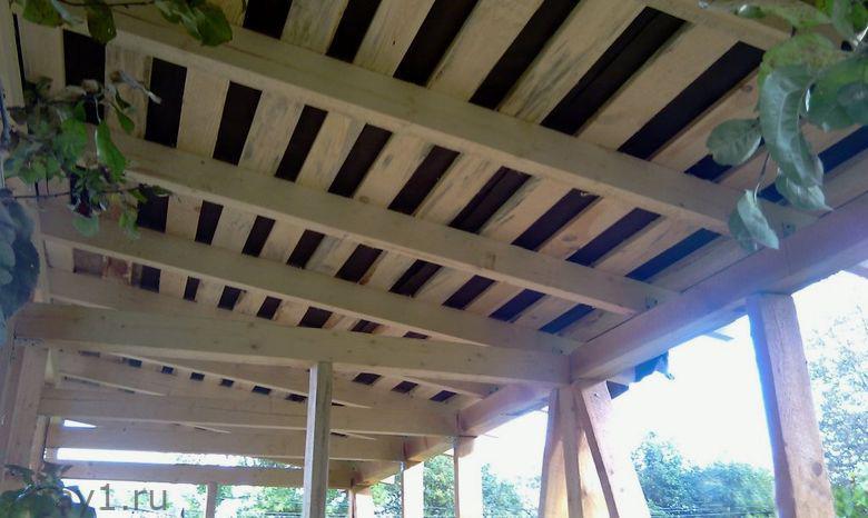 6 обрешетка крыши сарая