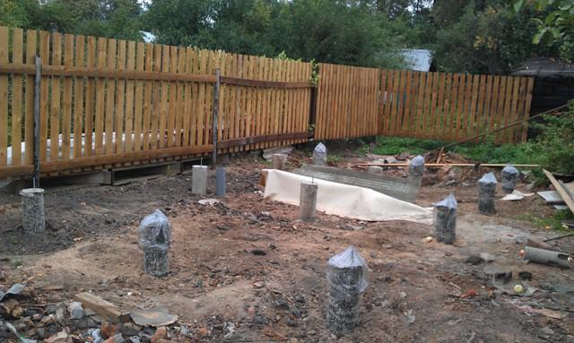 бетонный фундамент для сарая