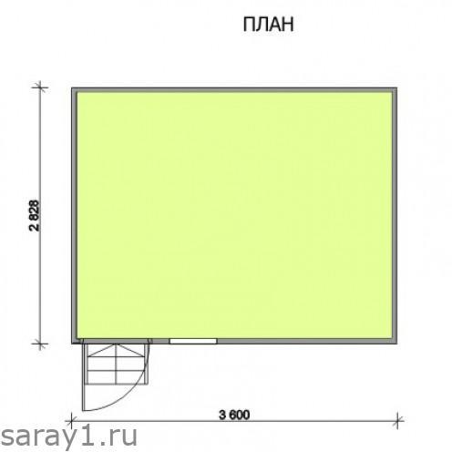 размеры сарая 3.6x3
